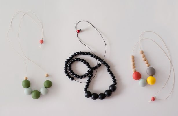 Clay bauble necklace
