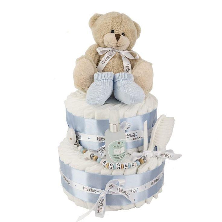 Tarta de Pañales Patucos. Tarta de pañales 2 pisos el regalo perfecto para el bebé recién nacido