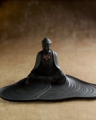 L'Objet Buddha Desk Tray	 - $395.00   Black porcelain Buddha desk tray with 24-kt. gold accents, 13.5W x 7.5D x 6.5T    This would look so YUMMY on my desk!!  Just wish the price was about a 10th of the price...sigh...