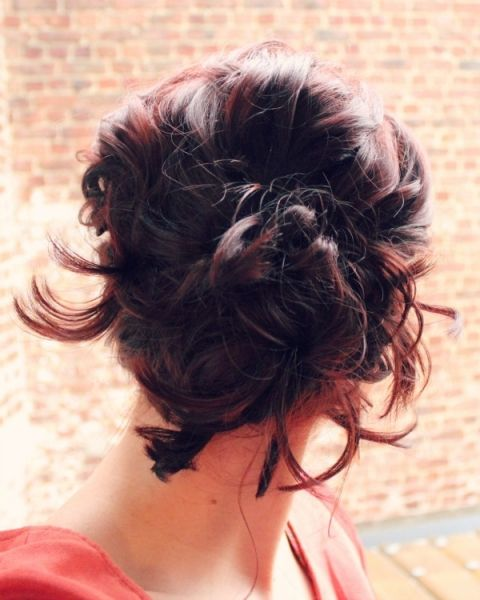 wave hair styles 1000 ideas about braided side buns on side 9063