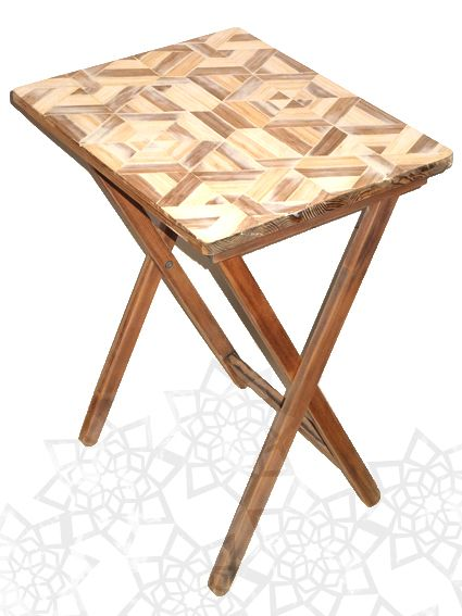 Bamboo mosaic coffee table. DIY project. How to personalize your old IKEA table.  http://setdsgn.blogspot.com/2014/10/blat-stolika-z-gumtree.html  Joanna Martyniuk, 2014