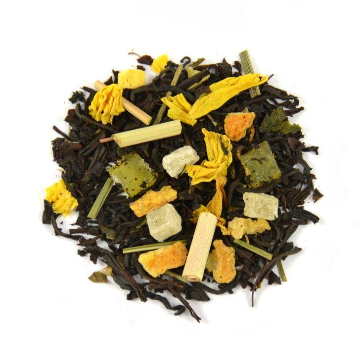 Lemon Sorbet - Heerlijke en frisse combinatie van zwarte thee met citroen, ananas en pepermunt, zowel warm als koud te drinken.
