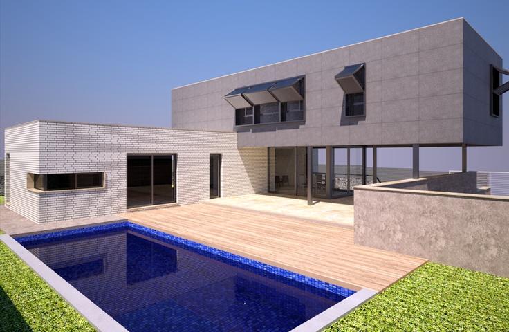 #Casas #Moderno #Exterior #Piscina #Dibujos #Fachada