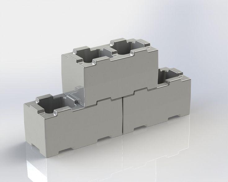 Interlock Bricks Stumblebloc - STEP / IGES,SOLIDWORKS - 3D CAD model - GrabCAD