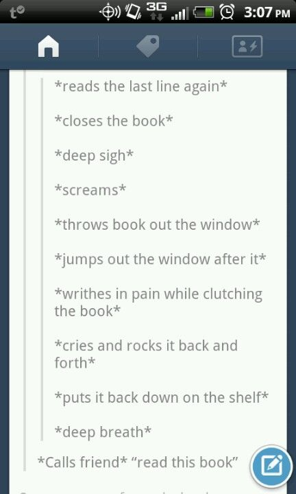 My experience with Ender's Game. Except for all that happened in my head; I was reading on my iPod.