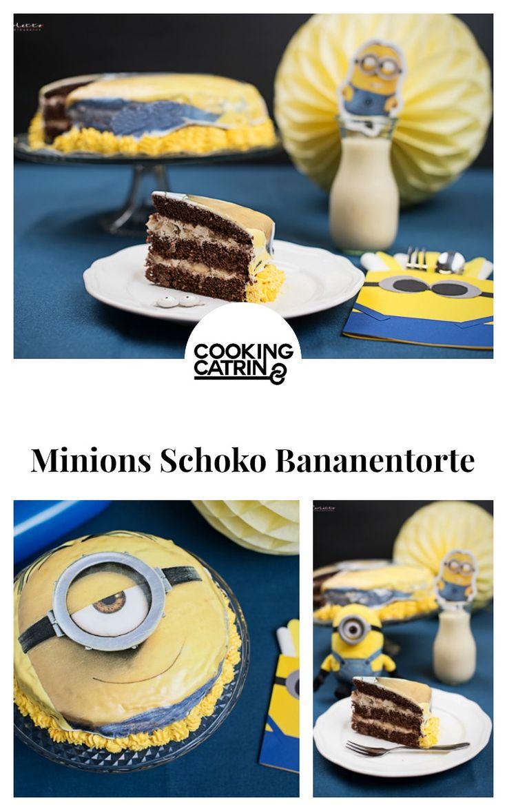 minions schoko bananen torte, schoko bananen torte, minions torte, kidsparty, kinderparty, minionsparty, chocolate banana cake, cake, chocolate cake, banana cake, cakerecipe, kuchen rezept