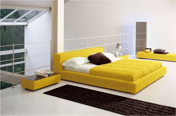 Yellow Modern Bed Furniture