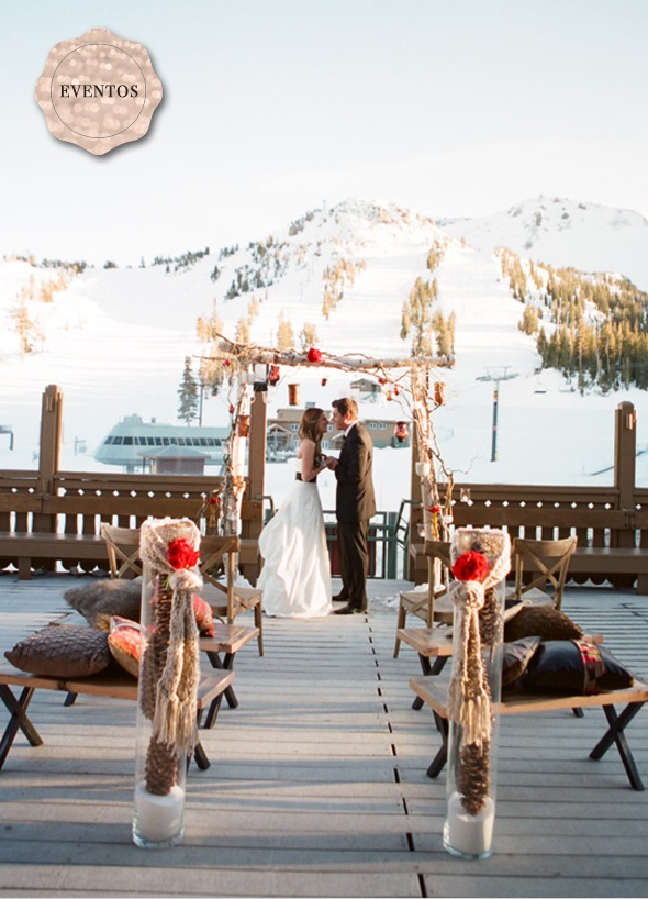 winter wedding at the mountain