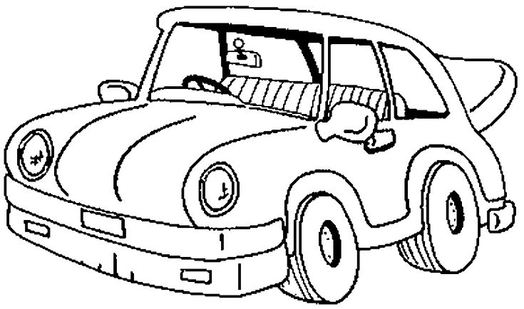 free cars cartoon coloring pages | Classic Cartoon Car Coloring Page | Cars coloring pages ...