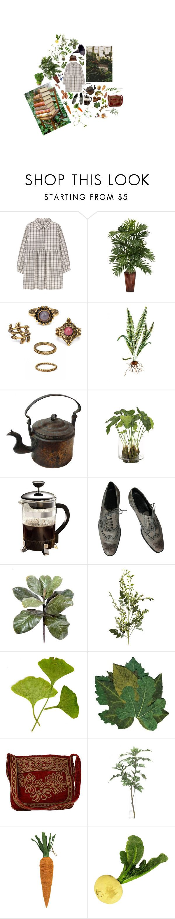 """Mundanity"" by flyingmonkeys1995 ❤ liked on Polyvore featuring Zephyr, Nearly Natural, Victrola, NDI, Primula, Strenesse, Pier 1 Imports, HOBO, For Strange Women and Vitamin A"