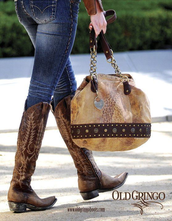 Old gringo purse. and boots...