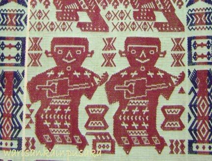 Traditional Indonesian (Sumba) Ikat Textile Pattern