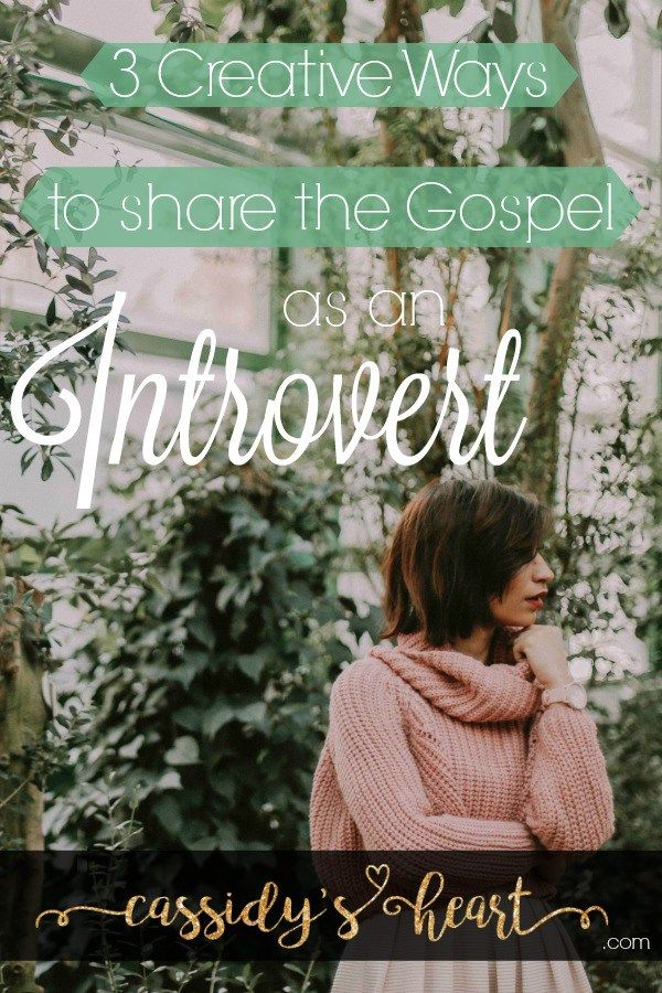 3 Creative Ways to Share the Gospel As An Introvert » Cassidy's Heart (scheduled via http://www.tailwindapp.com?utm_source=pinterest&utm_medium=twpin&utm_content=post141948347&utm_campaign=scheduler_attribution)