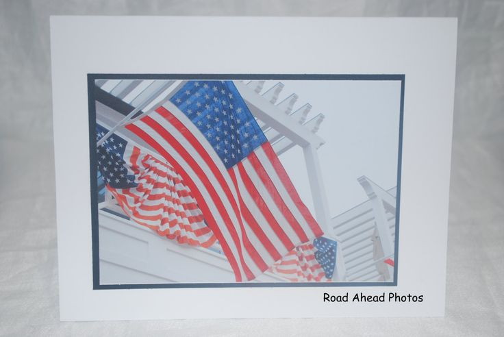 Photo card, American Flag, Patriotic, photography by RoadAheadPhotos on Etsy