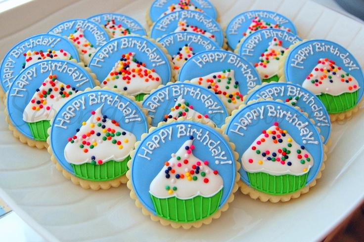 Birthday cupcake cookies