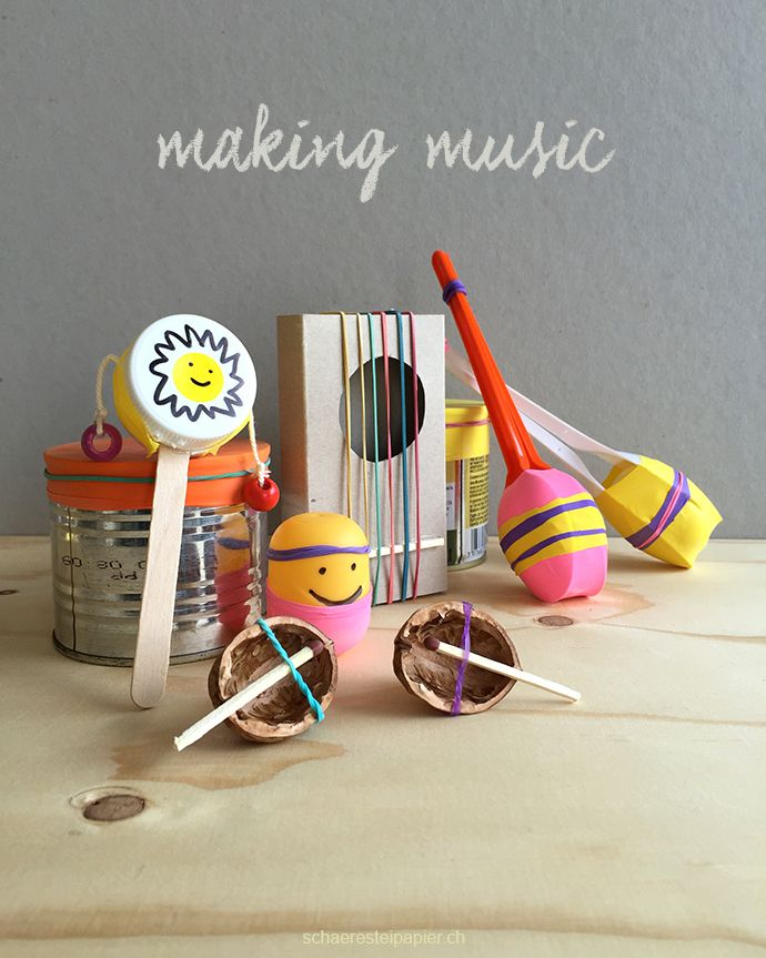 Making Music – selber 6 Instrumente basteln