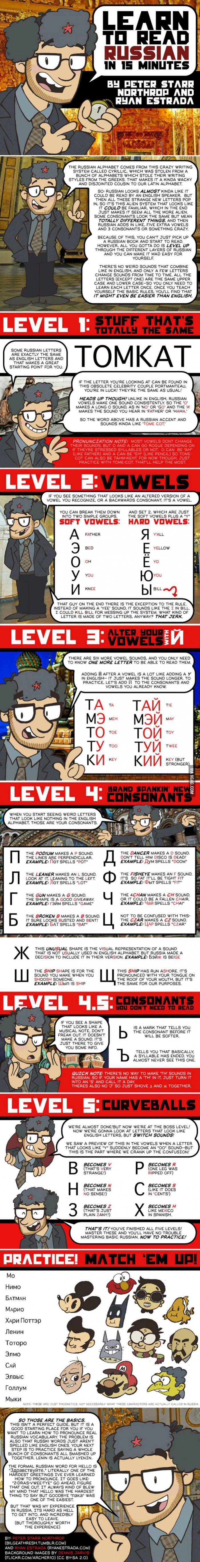 Learn To Read Russian In 15 minutes! - 9GAG