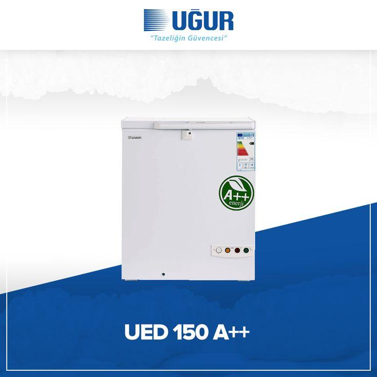 UED 150 A++ birçok özelliğe sahip. Bunlar; sağlam gövde yapısı, marka uygulama ve değiştirme kolaylığı, çok düşük enerji tüketimi, ayarlanabilir termostat, kolay ve esnek konumlandırma için opsiyonel 4 adet tekerlek, dolap içi aydınlatma, tek düğme ile hızlı şoklama. #uğur #uğursoğutma