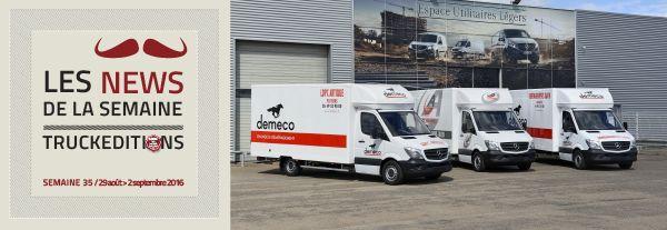 Mercedes livre treize Sprinter à Demeco 1er septembre2016 – Demeco utilitaire