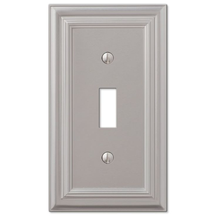Amerelle Continental 1-Gang Satin Nickel Standard Toggle Metal Wall Plate | Lowe's Canada