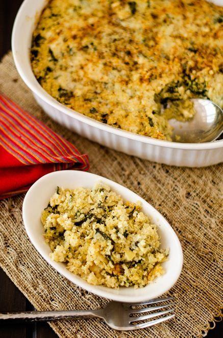 Spinach Artichoke Quinoa Casserole - Cooking Quinoa