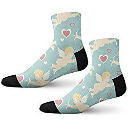 St Valentines Day Fun Crazy Cool Novelty Cuff Men Women Socks Large