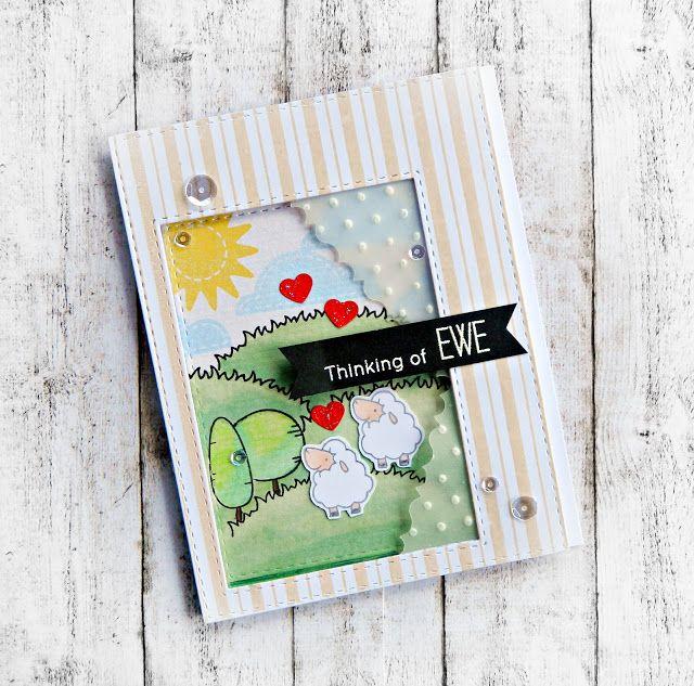 RL Design - Invitatii si felicitari Handmade : Thinking of Ewe - MFT Handmade Card