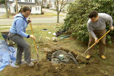This Old House landscape contractor Roger Cook shares a permanent way to collect and disperse sump-pump water.