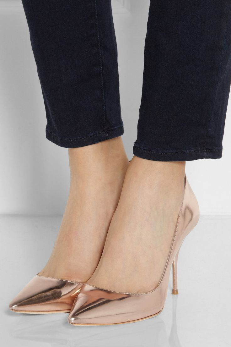 Sophia Webster | Lola mirrored-leather pumps | NET-A-PORTER.COM