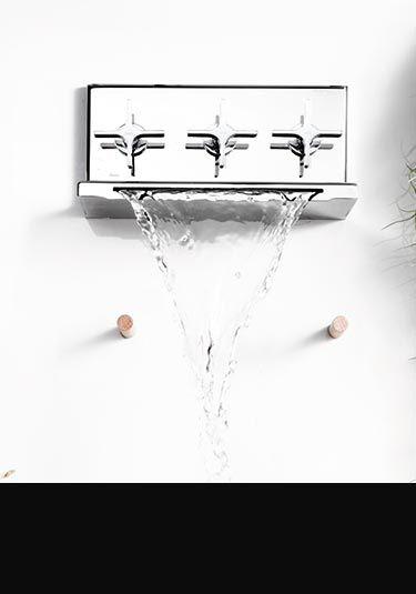 L`Eau Waterfall Bath Tap with Shower Diverter (37CC)