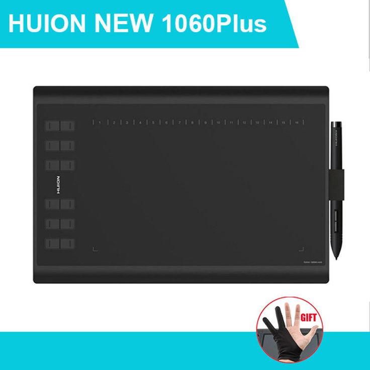 Huion New 1060PLUS Graphics Tablet Drawing Tablets Professional Signature Tablets 1060 PLUS Upgraded Version Digital Pen Tablet