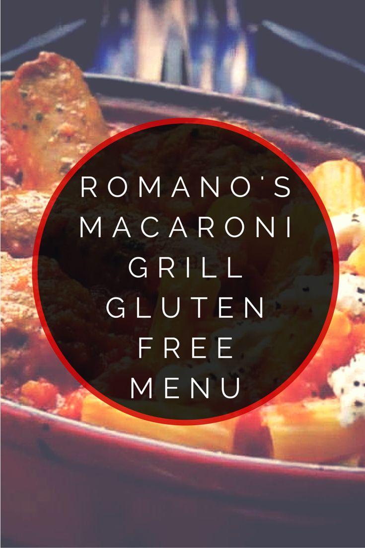 Romano's Macaroni Grill Gluten Free Menu #glutenfree