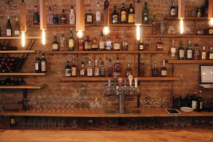 Brick back bar art house renovation pinterest bricks and bar - Brick bar design ...