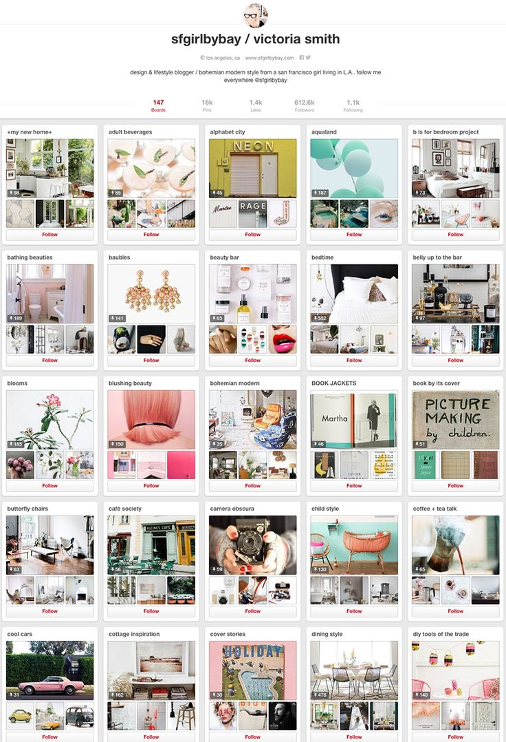 SFgirlbybay - 10 design accounts to follow on Pinterest