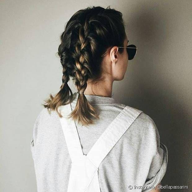 As boxer braids também podem ser feitas em cabelos médios e curtos