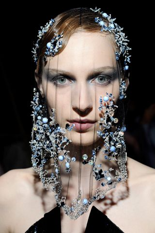 Armani Prive | Fall 2012 Couture | Beaded veil
