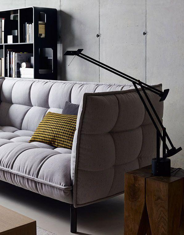 Contemporary sofa / fabric / by Patricia Urquiola / 2-seater - HUSK-SOFA - B&B Italia