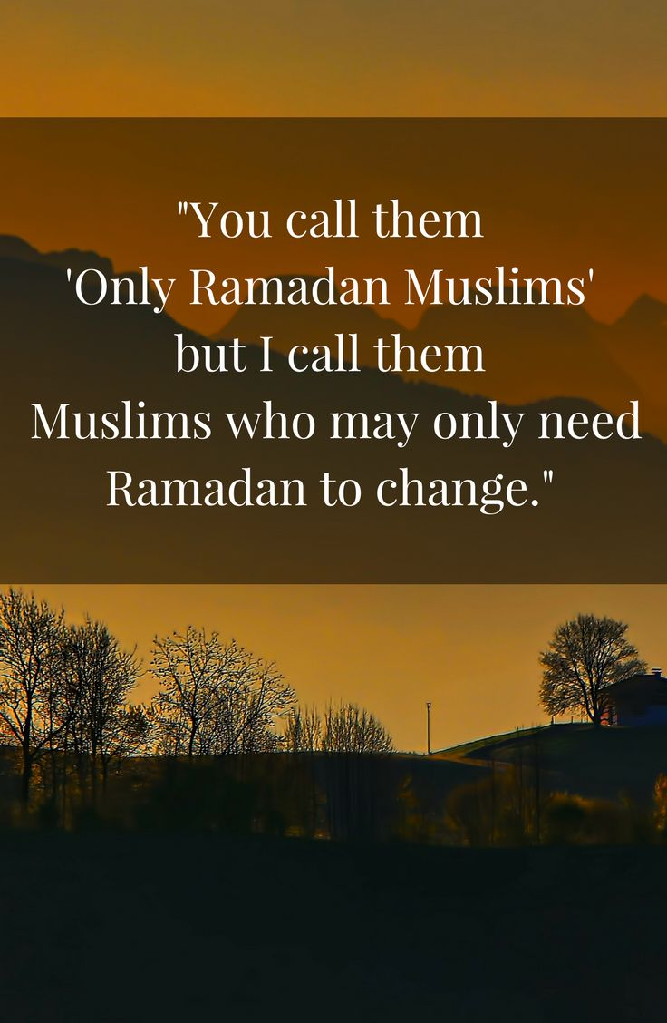 A post on the popular term 'Ramadan Muslim' and how this month can be a time of change for most people.
