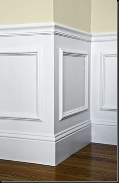 Cheap frames glued onto walls. Add molding for a chair rail and paint it all to match.