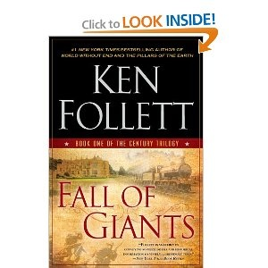 Fall of Giants: Book One of the Century Trilogy--Enjoyed this lengthy, complex story very much! Multiple characters' lives are woven together in a way that moves the plot along and deepens the characters' portrayal. I know so little about WWI that I was delighted to gain a historical perspective.