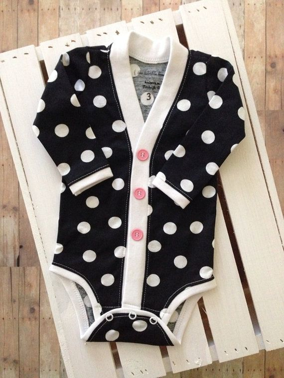 Hey, I found this really awesome Etsy listing at https://www.etsy.com/listing/164958629/cardigan-one-piece-girls-black-and-white