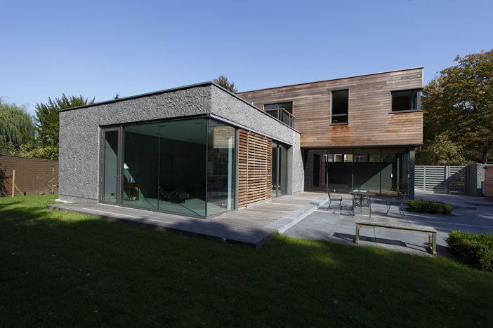 Maison toit plat et toiture terrasse bac acier ou siplast acrotere