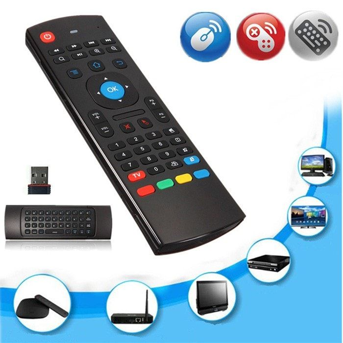 2.4GHz Fly Air Mouse Wireless Keyboard Motion Sensor Remote Control. 2.4GHz Fly Air Mouse Wireless Keyboard Motion Sensor Remote Control For PC TV     Features:  2.4G 3D air mouse & wireless keyboard  USB receiver, plug and play, no need to install software.  Motion sensor allows mouse to be controlled by waving the remote.  Mouse cursor On/Off  Infrared Remote control  IR learing  Up to 10m transmission distance  Effective battery saver, turn into sleep mode after inactive operation…