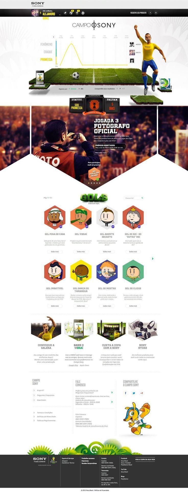 Unique Web Design, Campo Sony #WebDesign #Design (http://www.pinterest.com/aldenchong/)