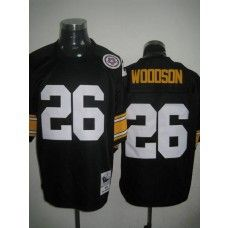 Mitchell And Ness Steelers #26 Rod Woodson Black Stitched Throwback NFL Jersey