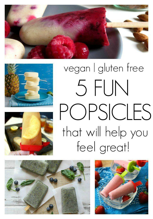 5 Fun, Healthy Popsicle Recipes #vegan #glutenfree #memorialday