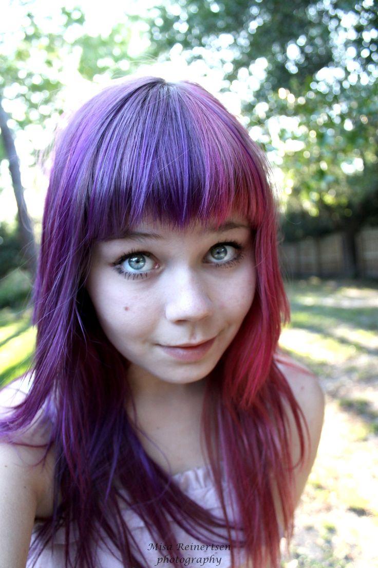 inspirational hair long bangs two toned color hair