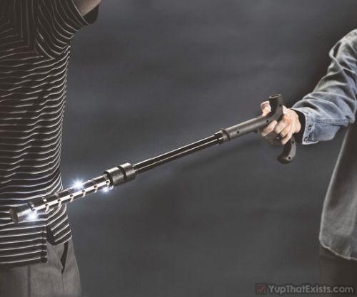 Walking stick canes and walking sticks pinterest - Stun Gun Walking Cane Looking To Run Shit On Your Local