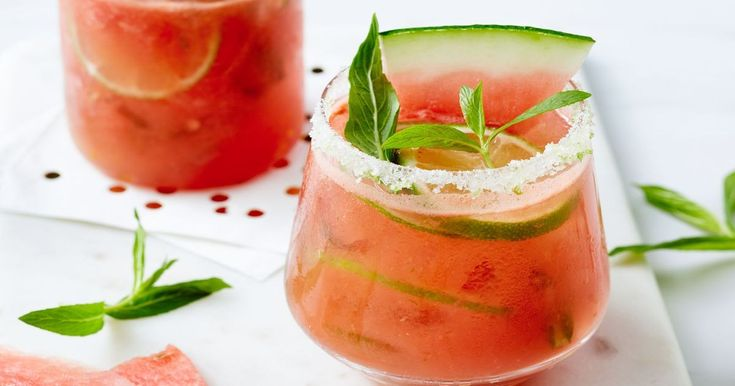 This is our alcohol-free version of a mojito. It features watermelon and fresh mint for real summer flavour.