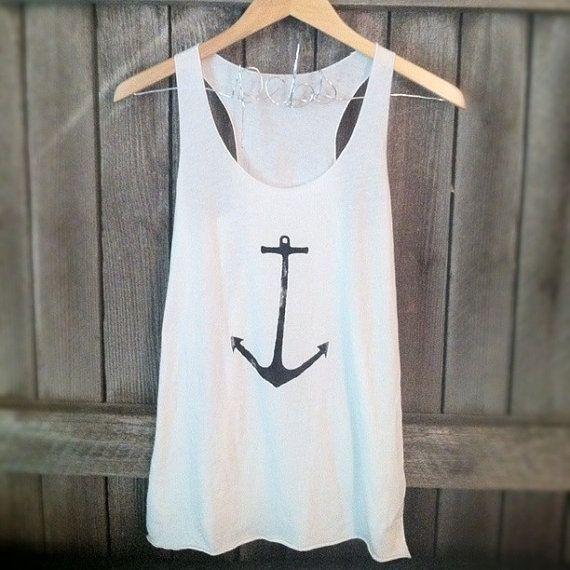 sweaters for women | ... , Anchor, Nautical Tank top (women, teen girls) on Wanelo